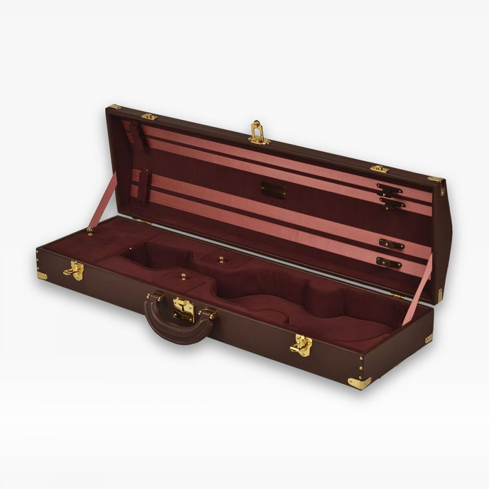 Negri Cases Elite Chocolat Brown Leather and Burgundy