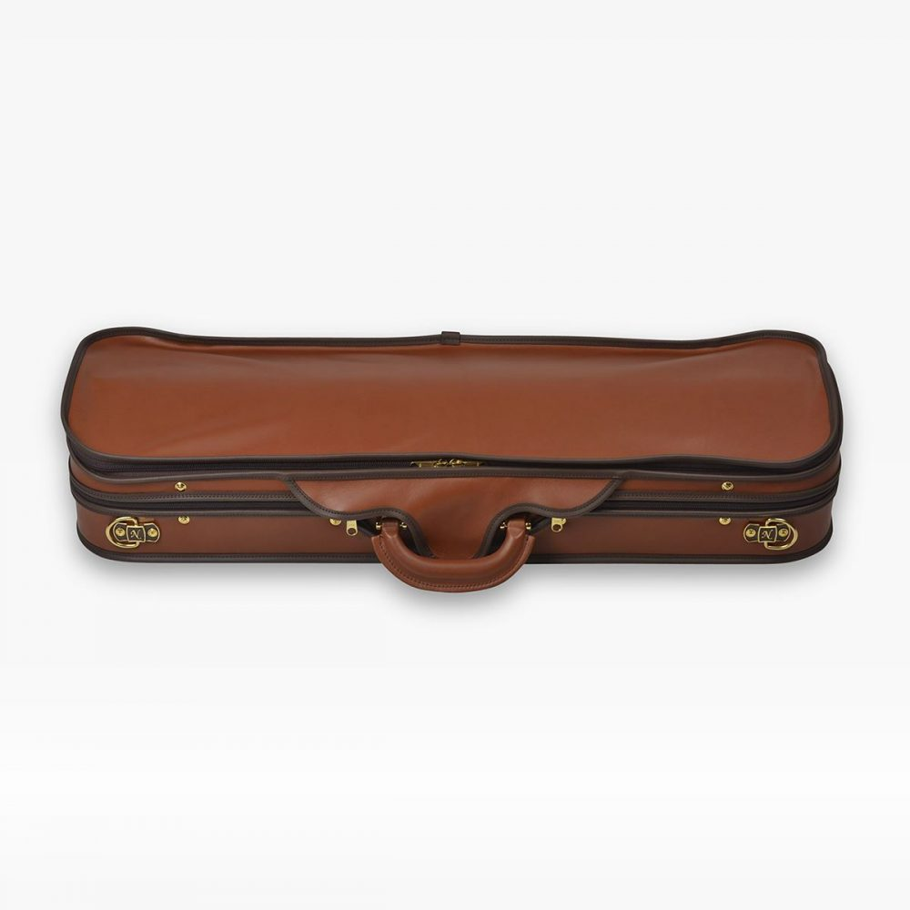 Negri Cases Diplomat Cognac Brown Leather and Navy Blue