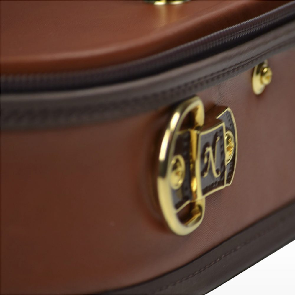 Negri Cases Diplomat Viola Cognac Brown Leather and Navy Blue