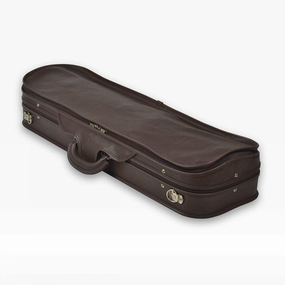 Negri Cases Milano Leather Chocolat Brown and Beige